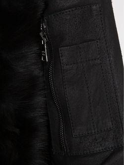 Куртка С Контрастными Кожаными Рукавами Giorgio Brato                                                                                                              черный цвет