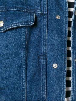 Джинсовая Куртка CLAUDE MONTANA VINTAGE                                                                                                              синий цвет