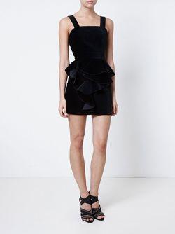 Velvet Frill Dress Balmain                                                                                                              черный цвет