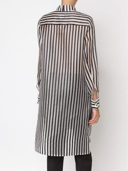Striped Shirt Dress Rosie Assoulin                                                                                                              белый цвет