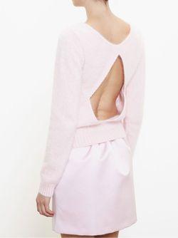 Cut-Out Back Sweater No21                                                                                                              розовый цвет
