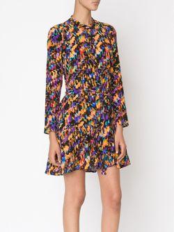 Платье С Цифровым Принтом Saloni                                                                                                              чёрный цвет
