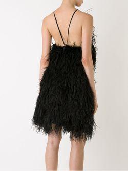Платье С Отделкой Перьями SCANLAN THEODORE                                                                                                              чёрный цвет