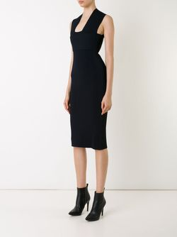 Вязаное Приталенное Платье SCANLAN THEODORE                                                                                                              чёрный цвет