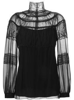 Блузка С Кружевными Вставками Alberta Ferretti                                                                                                              чёрный цвет
