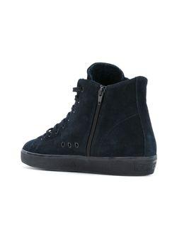 Классические Хайтопы Leather Crown                                                                                                              синий цвет