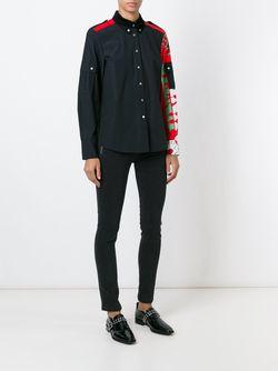 Рубашка С Панельным Дизайном Marc by Marc Jacobs                                                                                                              чёрный цвет