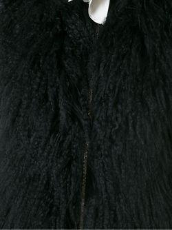 Жилет С Меховой Панелью Moncler Gamme Rouge                                                                                                              чёрный цвет