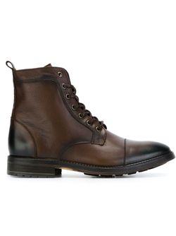 Ботинки На Шнуровке ARMANI JEANS                                                                                                              коричневый цвет