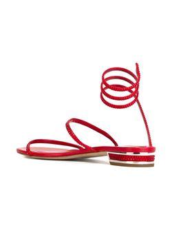 Декорированные Сандалии Rene' Caovilla                                                                                                              красный цвет