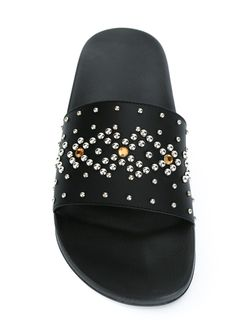 Шлепанцы С Заклепками Givenchy                                                                                                              черный цвет