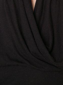 Драпированный Топ На Тонких Лямках Rick Owens Lilies                                                                                                              чёрный цвет