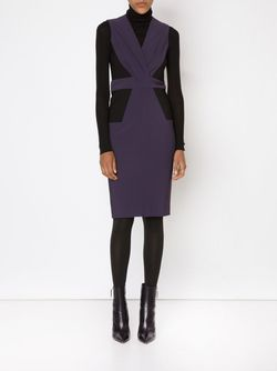 Panelled V-Neck Dress Yigal Azrouel                                                                                                              розовый цвет