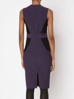 Panelled V-Neck Dress Yigal Azrouel                                                                                                              розовый цвет