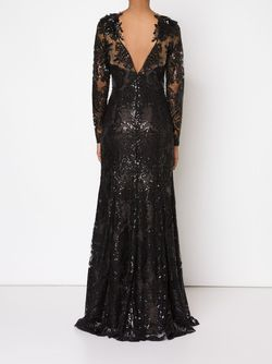 Embroidered Sequin Gown Marchesa Notte                                                                                                              черный цвет