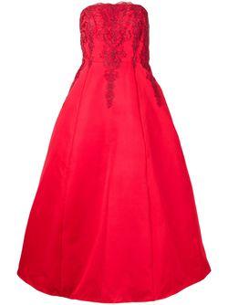 Embroidered Strapless Gown Marchesa Notte                                                                                                              красный цвет