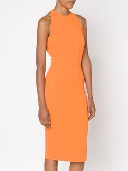 Fitted Midi Dress Victoria Beckham                                                                                                              желтый цвет