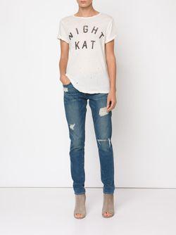Night Kat Print T-Shirt Current/Elliott                                                                                                              белый цвет