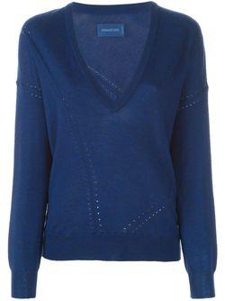 Свитер C V-Образным Вырезом Zadig & Voltaire                                                                                                              синий цвет