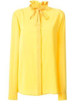 Рубашка С Бантом MSGM                                                                                                              желтый цвет