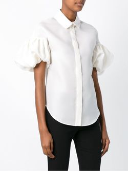 Balloon Sleeves Blouse Dice Kayek                                                                                                              белый цвет