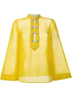 Блузка С Крупными Заклепками Versace Collection                                                                                                              желтый цвет