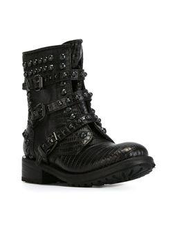 Байкерские Ботинки Reese Ash                                                                                                              чёрный цвет
