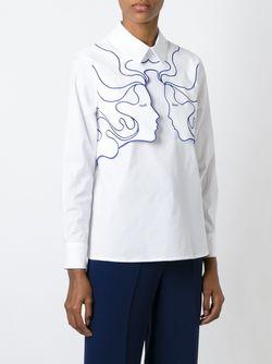 Рубашка С Аппликацией Лиц Vivetta                                                                                                              белый цвет