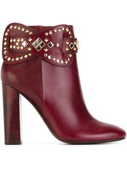 Ботинки По Щиколотку Kingsbridge Tory Burch                                                                                                              красный цвет