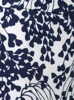Укороченные Брюки С Цветочным Принтом SCANLAN THEODORE                                                                                                              синий цвет