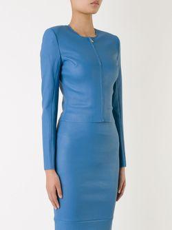 Укороченный Жакет SCANLAN THEODORE                                                                                                              синий цвет