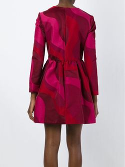 Расклешенное Платье С Волнообразным Узором Vivetta                                                                                                              красный цвет