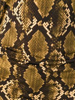 Кофта С Принтом Змеиной Кожи Michael Michael Kors                                                                                                              коричневый цвет