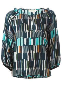 Блузка С Рукавами Три Четверти L' Autre Chose                                                                                                              синий цвет
