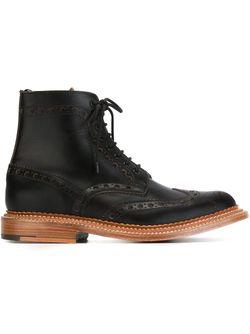 Ботинки С Перфорированным Дизайном Grenson                                                                                                              черный цвет