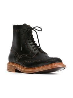 Ботинки С Перфорированным Дизайном Grenson                                                                                                              чёрный цвет