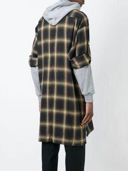 Пальто В Клетку С Капюшоном MIHARA YASUHIRO                                                                                                              Nude & Neutrals цвет