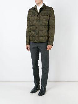 Дутая Куртка С Камуфляжным Принтом Moncler                                                                                                              зелёный цвет