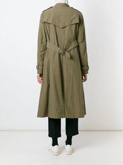 Длинное Пальто-Тренч Kolor                                                                                                              зелёный цвет