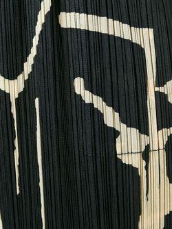 Брюки С Принтом И Гофрированным Дизайном PLEATS PLEASE BY ISSEY MIYAKE                                                                                                              чёрный цвет
