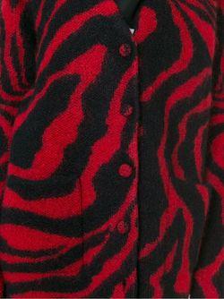 Кардиган С Узором Saint Laurent                                                                                                              красный цвет