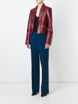 Кожаная Куртка С Заклепками Versace Collection                                                                                                              красный цвет