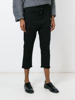 Frayed Hem Cropped Trousers Pas Du Tout                                                                                                              чёрный цвет
