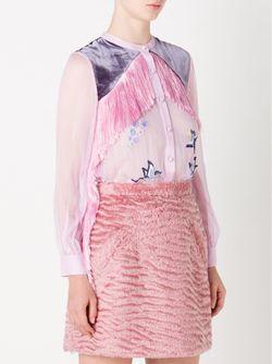 Fringe Embroidered Blouse SRETSIS                                                                                                              розовый цвет