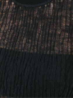 Трикотажный Топ С Эффектом Помятости T By Alexander Wang                                                                                                              чёрный цвет