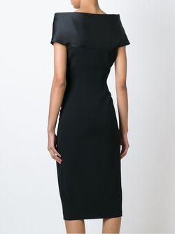 Приталенное Платье С Открытыми Плечами Antonio Berardi                                                                                                              черный цвет