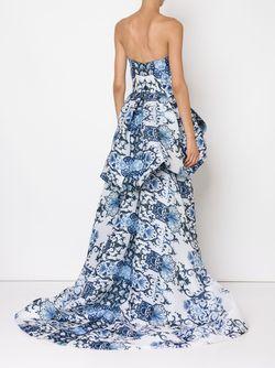Вечернее Платье С Пышной Юбкой Monique Lhuillier                                                                                                              синий цвет