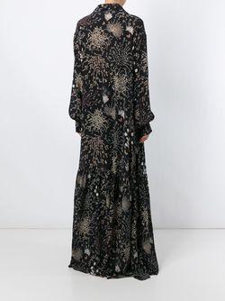 Длинное Платье С Цветочным Принтом Chloe                                                                                                              черный цвет