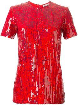 Топ С Короткими Рукавами И Украшением Из Nina Ricci                                                                                                              красный цвет