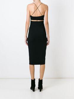 Платье На Бретельках T By Alexander Wang                                                                                                              чёрный цвет
